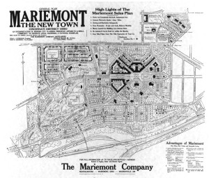 General Plan Mariemont Company Sales 1927 reduced